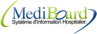 Logo mediboard systeme d'information hospitalier