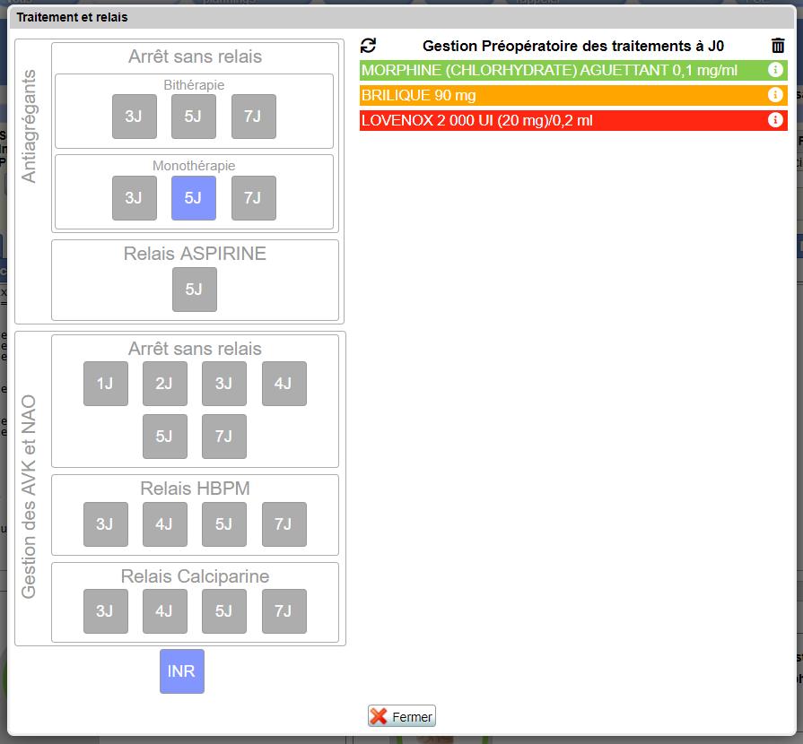 onglet traitement module Mediboard
