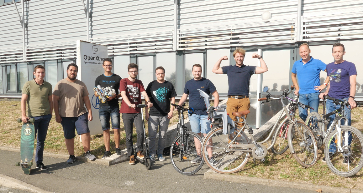 L'équipe OpenXtrem rassemblée pour le Challenge mobilité 2019